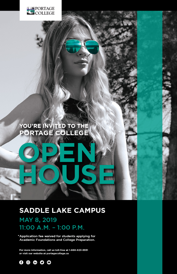Open House Poster for Saddle Lake