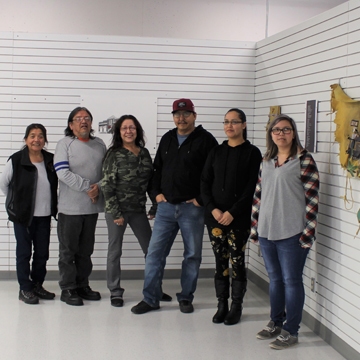 NAC students with ACAD exhibit in Lac La Biche